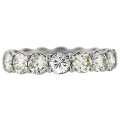 Round Diamond Platinum Eternity Band 4.50 Carat