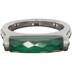 Lagos Sterling Silver Malachite Maya Stack Ring