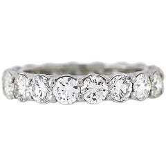 Round Diamond Platinum Eternity Band 2.80 Carat
