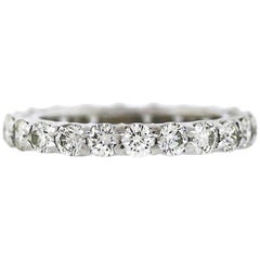 Round Diamond Platinum Eternity Band 2.21 Carat