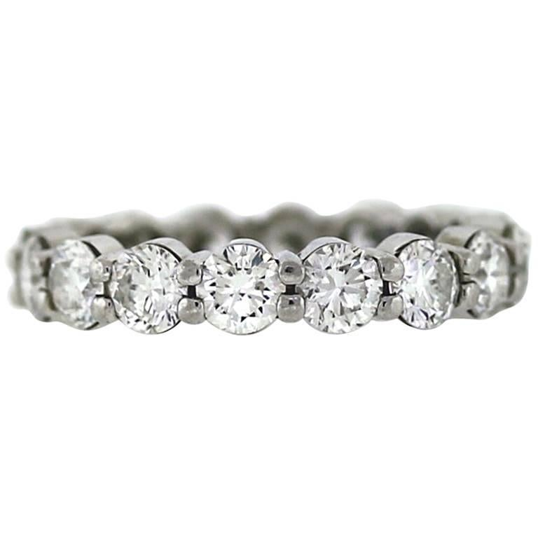 Round Diamond Platinum Eternity Band 4.00 Carat