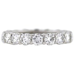 Round Diamond Platinum Eternity Band 3.58 Carat