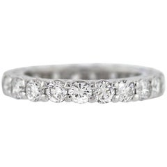 Round Diamond Platinum Eternity Band 2.33 Carat