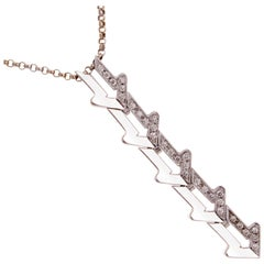 Bulgari Enigma Arrow Diamond Gold Necklace