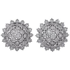 Mario Buccellati White Gold and Diamond Earrings