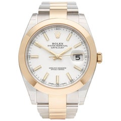 Rolex Yellow Gold Stainless Steel Datejust Automatic Wristwatch Ref 126303