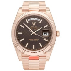 Rolex Rose Gold Day-Date Chocolate Dial Automatic Wristwatch Ref 228235, 2017