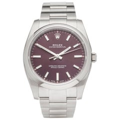 Rolex Stainless Steel Oyster Perpetual Grape Dial Automatic Wristwatch, 2017