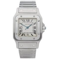 Cartier Stainless Steel Santos Galbee Quartz Wristwatch, 2000s