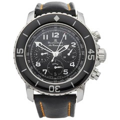 Blancpain Stainless Steel Fifty Fathoms Air Command Flyback Automatic Wristwatch