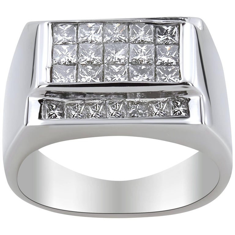 WGI White Gold Men's Diamond Ring