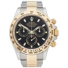 Rolex Yellow Gold Stainless Steel Daytona Chronograph Automatic Wristwatch
