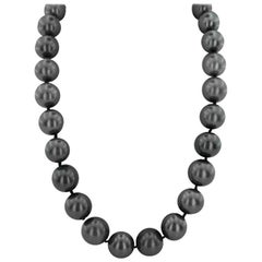 Tahitian South Sea Pearl with Diamonds Necklace