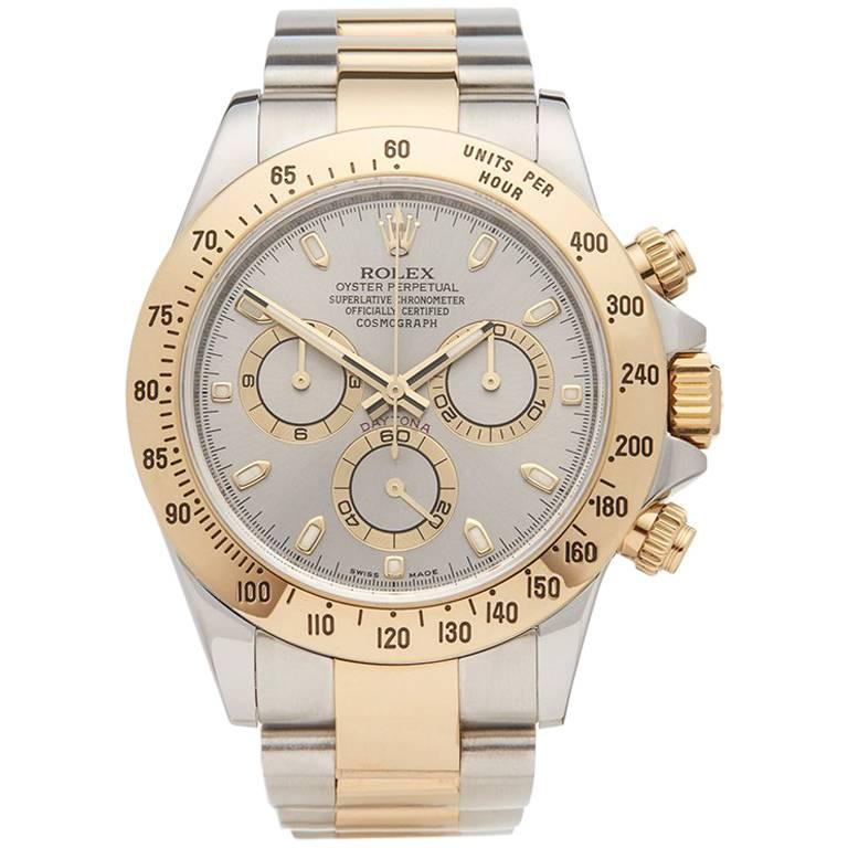 Rolex Yellow Gold Stainless Steel Daytona Chronograph Automatic Wristwatch 1