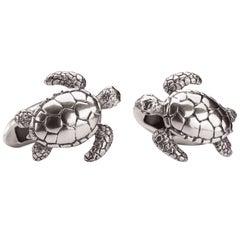 Turtle Sterling Silver Cufflinks