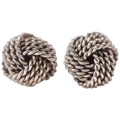 Tiffany & Co. Sterling Silver Twist Knot Earrings