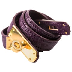 Hermes Kelly Leather Choker / Wrist Wrap