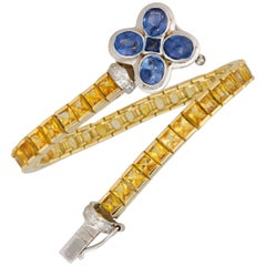 Ella Gafter Sapphire Diamonds Flexible Color Bracelet