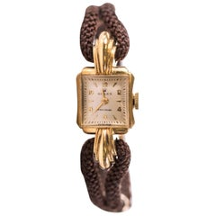 1950s Rolex Ladies Precision 14K Gold Wristwatch