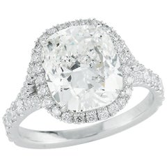 Kwiat 4.51 carat Cushion-Cut Diamond Ring