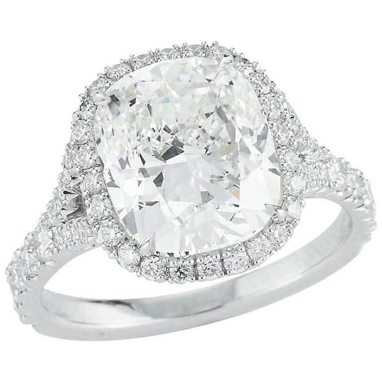 Kwiat 4.51 carat Cushion-Cut Diamond Ring