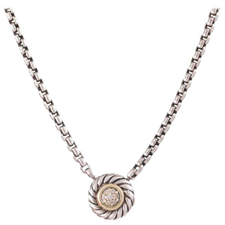 David Yurman 0.10 Carat Diamond Cookie Necklace