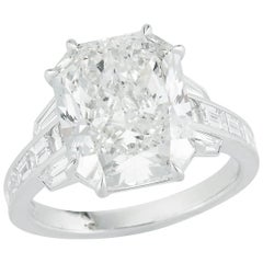 Kwiat 7.09 carat Radiant-Cut Diamond Ring