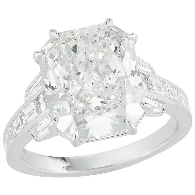 Kwiat 7.09 carat Radiant-Cut Diamond Ring
