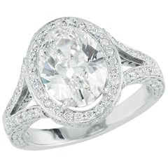 Kwiat 2.60 caratOval-Cut Diamond Ring