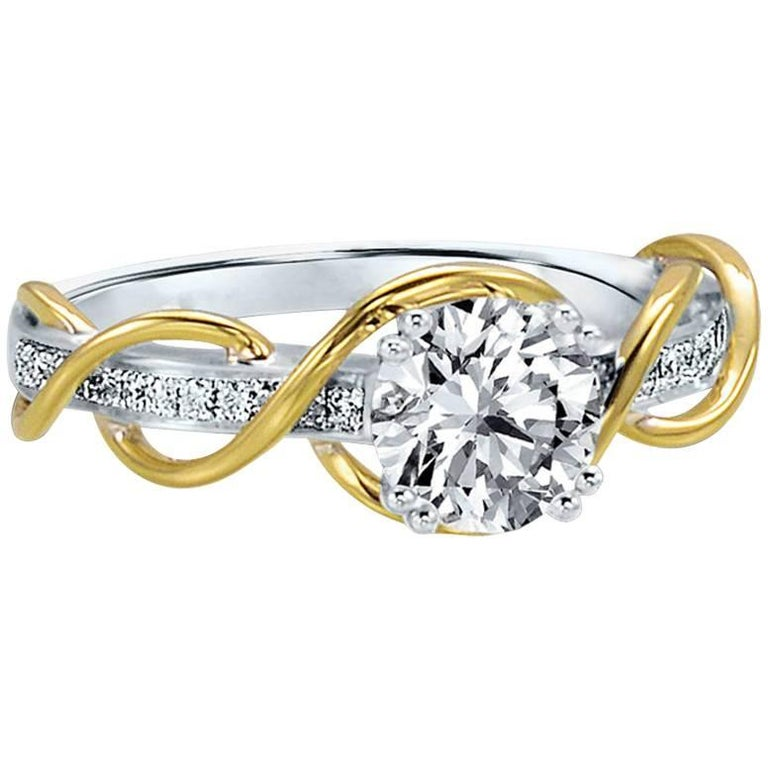 Frederic Sage 1 Carat Engagement Ring Center Diamond Not Included
