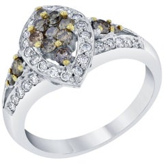 1.05 Carat Fancy Diamond White Gold Ring