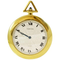 Cartier Yellow Gold Pocket Watch