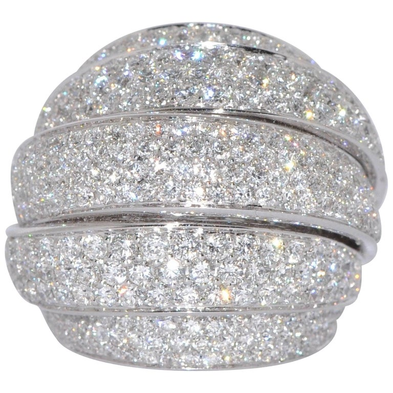 Bold White Diamond White Gold Ring