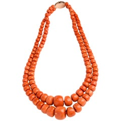 Coral Necklace, Sicily, Mid-19th Century