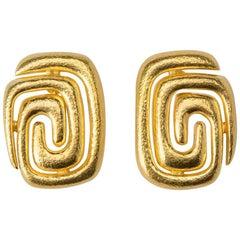 Ilias Lalaounis Geometric Gold Earrings