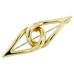 Cross Brooch in 18 Karat Yellow Gold