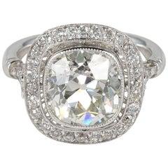 4.20 Carat Diamond Solitaire Plus Platinum Ring