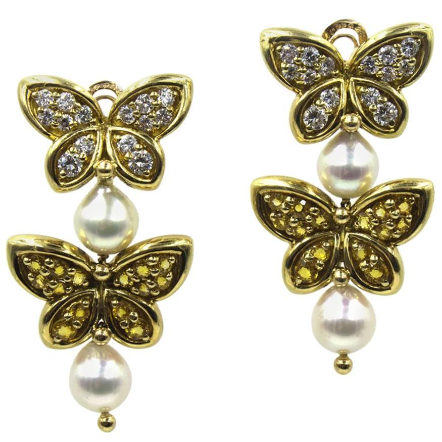Two Butterfly Earrings