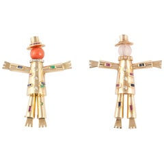 LaCloche Pair of Scarecrow Pins