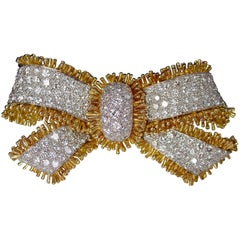 David Webb Diamond Bow Brooch