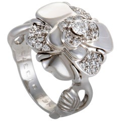 Chanel Camelia Small Diamond White Gold Ring