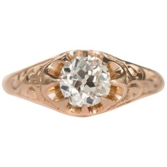 .83 Carat Diamond 14 Karat Yellow Gold Engagement Ring