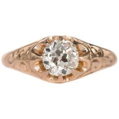 .83 Carat Diamond 14 Karat Yellow Gold Engagement Ring