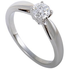 Van Cleef & Arpels .30 Carat Diamond Solitaire Platinum Engagement Ring