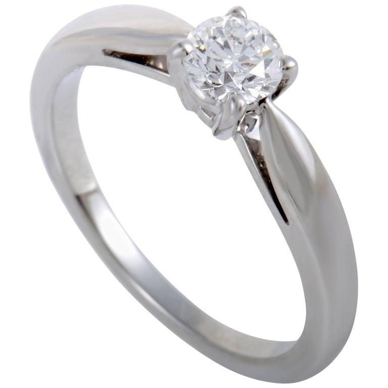 Van Cleef & Arpels .30 Carat Diamond Solitaire Platinum Engagement Ring