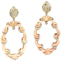 Cameo Earring with Diamonds