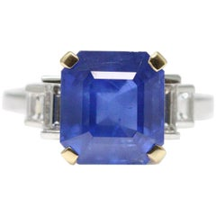 Bulgari 6.54 Carat Natural Sapphire Diamond Ring