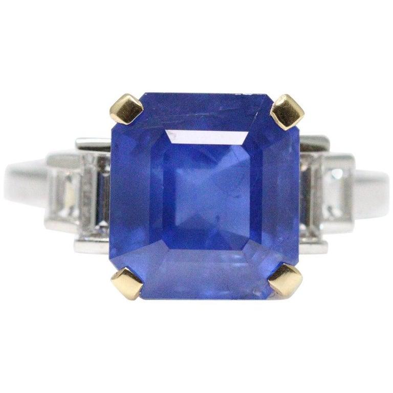 Bulgari 6.54 Carat Natural Sapphire Diamond Ring