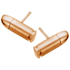 Akillis Mini Bang Bang Studs Earrings 18 Karat Yellow Gold
