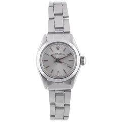 Rolex Ladies Stainless Steel Bracelet Automatic Wristwatch Ref 6718